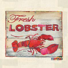 Fresh lobster.