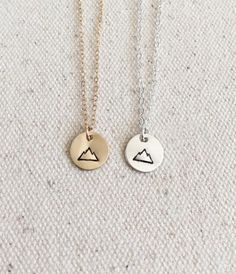 Tiny Mountain Necklace  Everyday Necklace  14k Gold by GemLark