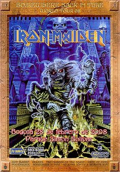 Iron Maiden- Somewhere Back In Time Tour 2008 Poster...
