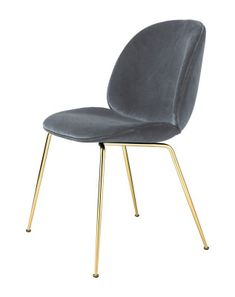 Chair - Beetle dining chair Brass grey - Gubi