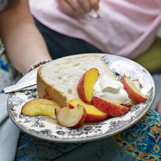 Great-Grandmother Pearl's Angel Food Cake with Peaches // More Incredible Cakes: http://www.foodandwine.com/slideshows/cakes #foodandwine