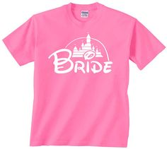 Bride Disney Castle t shirt tshirt tee matching by youngandstyling