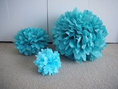 Directions to make small, medium or large tissue paper pompoms at speckless