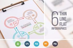 Line flat elements for infographic_4 by Abert on @creativemarket