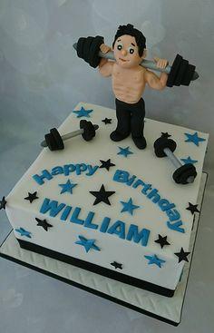 weight lifting cake