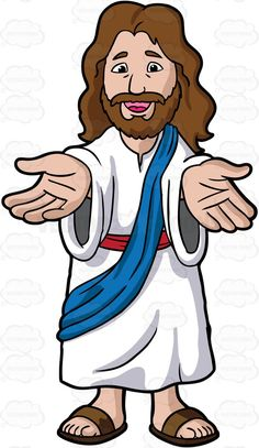 Jesus Christ Lending His Hands And Welcoming Us 1 Jesus Art, Jesus Christ, Jesus Cartoon, Jesus Drawings, Bible Crafts For Kids, Bible Activities, Religious Education, Sunday School Crafts, Kids Church