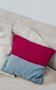 Hand Knitted Wool Cushion | DIY Home Deco Knitting Kit - Miso Cushion by We Are Knitters