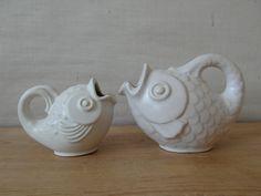 Michael Andersen Denmark small FISH vase white by danishmood Small Fish, Vintage Ceramic, Household Items, Kitchenware, Vintage Designs, Denmark, Scandinavian, Mid Century, Pottery