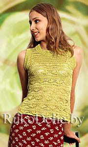 Knitted pullover with american armholes