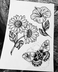 Girl Drawing Sketches, Ink Pen Drawings, Tattoo Sketches, Easy Drawings, Dream Tattoos, Mini Tattoos, Black Tattoos, Blackwork, Tattoo Filler