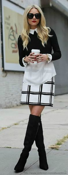STYLE | Black and white checkerboard