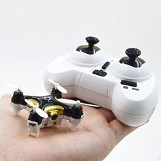 Amazon.com: AmazeToys - World's Smallest Nano Tiny Cute Drone or Quadcopter with a 0.3M Camera - CX-10C - Black - 2.4G 4CH 6 Axis RC Quadcopter with Camera Ready to Fly: Toys & Games