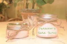 Make Your Own Gardener's Hand Scrub! Great gift idea!
