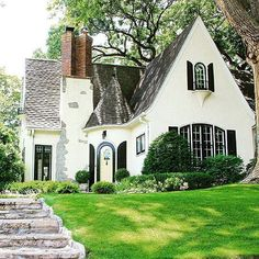 Black and white cinderella cottage