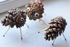 need a hot glue gun for these little monsters.