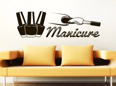 Wall Decal Manicure Vinyl Sticker Decals Beauty от WallDecalsPro