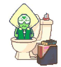 laurenzuke:  foop-mcfawn:  Smol pie escapes in toilet ಡ◡ಡ     this… makes me very happy