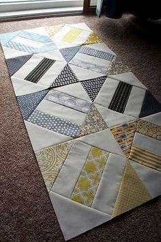 #Quilt pattern I love! This is a fun one, and fairly easy too! pattern from E Burns scrappy block (used for signature quilts that were done)