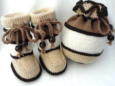 Baby Clothes Baby Set Crochet Baby Booties Knitted by Solnishko42