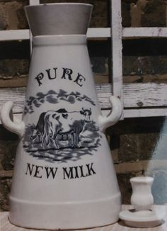 Small Pure New Milk Churn with original lid. Milk Pail, Milk Churn, French Cottage, Marmalade, Colonial, Crock, 19th Century, Jars, Period