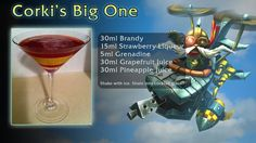 33 League of Legends Mixed Drinks You Won't LOL at Next Morning Grapefruit Juice, Pineapple Juice, Restaurant Drinks, 5th Birthday Party Ideas, Cocktail Glass, Mixed Drinks, League Of Legends, Cocktails, Cocktail