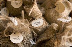 "Burlap DIY Roundup | SouthBound Bride Coffee Bean favors, ""perfect blend'"