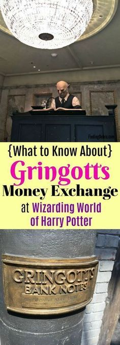 Gringotts Money Exchange How To – Universal Studios Gringotts Money Exchange – what to know about this unique experience at Universal Studios Orlando in the Wizarding World of Harry Potter (Diagon Alley) Universal Orlando, Universal Studios Florida, Orlando Travel, Orlando Vacation, Orlando Disney, Orlando Magic, Disney Parks, Walt Disney, Orlando Florida