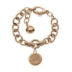 DKNY Ladies Rose Gold Plated Stone Set Round Bracelet NJ2029040