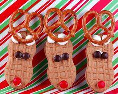 Nutter Butter Reindeer.    http://www.culinaryconcoctionsbypeabody.com/2011/12/21/nutter-butter-reindeer/