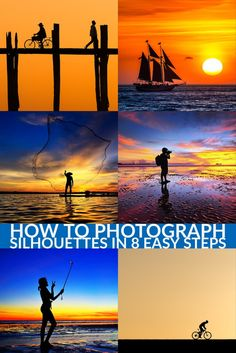 to Photograph Silhouettes in 8 Easy Steps - dPS How to Photograph Silhouettes: Silhouettes are a wonderful way to convey drama, mystery, emotion and mood to the viewers of your photos and often stand out in an album Dslr Photography Tips, Landscape Photography Tips, Digital Photography School, Photography Lessons, Photography For Beginners, Photoshop Photography, Photography Backdrops, Photography Business, Photography Tutorials