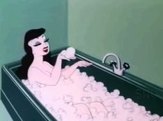 ♥ Art - Vintage - Rockabilly - Retro - Pin up - Classic Music - Instrumental music ♥ Vintage Cartoons, Old Cartoons, Bath Tumblr, Animiertes Gif, Cartoon Gifs, Bettie Page, Aesthetic Gif, Aesthetic Vintage, Vaporwave