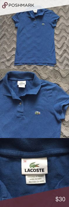 12c5d8ae87e812 Women s Blue Lacoste Polo Worn only a few times. Lacoste Tops Tees - Short  Sleeve. Lacoste Polo Shirts
