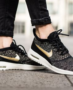 92a484d60978 WOMENS AIR MAX THEA ULTRA FLYKNIT - Nike Air Max Thea Ultra Flyknit  Metallic Black Ivory Metallic Gold
