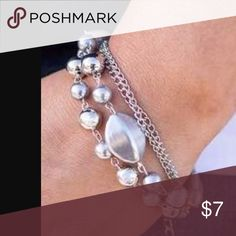 Silver bracelet Silver bracelet.   Bundle 5 jewelry items for $25 Jewelry Bracelets