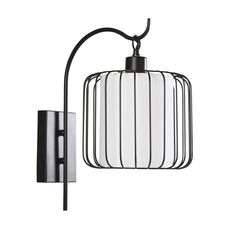 Black Wire and White Canvas Wall Light on Maisons du Monde. Akira, Spots, Home And Living, Wall Canvas, Sweet Home, Wall Lights, Metal, Inspiration, Black