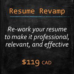 resume revamp mywordcoach ca pinterest