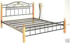 Prince queen metal frame bed with timber posts + FREE Delivery within SYDNEY Timber Posts, Porch Swing, Outdoor Furniture, Outdoor Decor, Free Delivery, Sydney, Beds, Prince, Queen