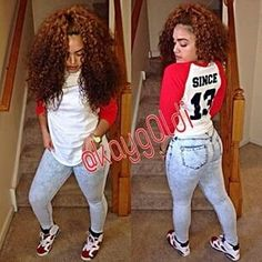 Designer Clothes, Shoes & Bags for Women Dope Fashion, Fashion Killa, Urban Fashion, Teen Fashion, Fashion Outfits, Style Fashion, Black Girl Swag, Pretty Girl Swag, Cute Simple Outfits