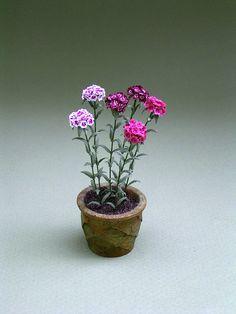 A 1/12 o 1 escala kit de flores de papel para hacer flores de dulce William (Dianthus Barbartus) 6  No difícil de hacer, están más fáciles Si