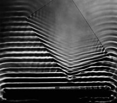 Berenice Abbott, Wave Pattern with Glass Plate, 1958-61