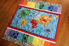 Map quilt by NeedleAndSpatula, via Flickr