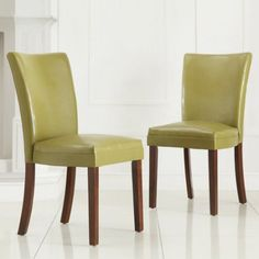 Top Line Kathryn Faux Leather Chair, Set of 2, Multiple Colors, Multicolor