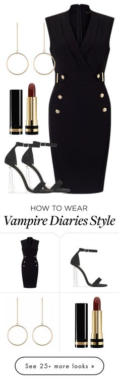 """Elijah Inspired Party Outfit - The Vampire Diaries/ The Originals"" by fangsandfashion on Polyvore featuring Lipsy and Gucci"