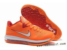 Nike Air Max Lebron 9 Low Shoes Orange Red
