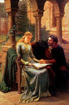 Abelard and His Pupil Heloise :: Edward Blair Leighton