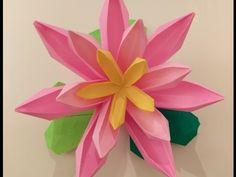 折り紙 折り方 花シリーズ(睡蓮・すいれん) Origami folding Flower Series (water lily). Link download: http://www.getlinkyoutube.com/watch?v=nOfKHxQUCjg