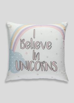 Unicorn Slogan Cushion (35cm x 35cm) £4