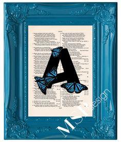 Custom Butterfly Monogram Letter