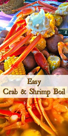 Easy Crab Shrimp Boil Jumbo Shrimp Crab Legs Baby Potatoes Corn Sausage And Loads Of Flavor Combine In This Easy Delicious Family Favorite Seafood Boil It 39 S The Perfect Summer Dish And So Fun For Entertaining Cajun Seafood Boil, Shrimp And Crab Boil, Seafood Boil Party, Seafood Boil Recipes, Crab Stuffed Shrimp, Seafood Appetizers, Seafood Dinner, Fish Recipes, Gourmet