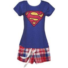 more superman pajamas ❤ liked on Polyvore featuring intimates, sleepwear, pajamas, superman pjs, blue boxer, superman boxers, superman pajamas and blue pajamas